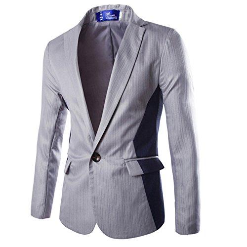 Homme Fashion Costume (Juseesij White Blazer Men 2016 Autumn Fashion Single Button Design Mens Slim Fit Blazer Suit Jacket Casual Veste Costume Homme Xxl As Picture White)