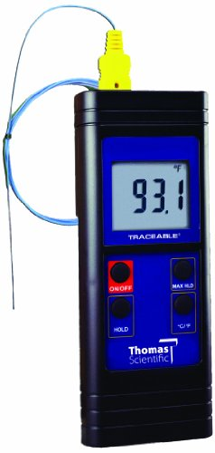 Thomas Waterproof Type K Digital Thermometer, -328 to 2372 degree F, -200 to 1300 degree C by Thomas