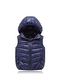 Lemonkids Children Kids Chic Hooded Winter Outwear Lightweight Vest Jacket