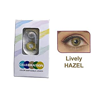 933a1f96b6e Buy CELEBRATION Monthly Disposable Color Contact Lens-Hazel (Pack of 2PCS)  Online at Low Prices in India - Amazon.in