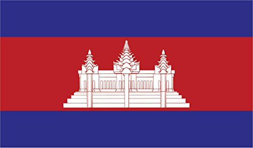 (2-Pack Cambodia Flag Decal Sticker | 5-Inches By 3-Inches | Premium Quality Vinyl | PD398)