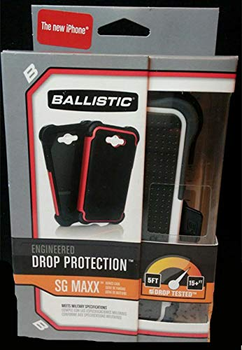 Ballistic SX0945-M385 Maxx Case with Holster and Screen Protector for Apple iPhone 5/5S - Retail Packaging - Black/White ()