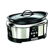 Crock-Pot SCCPBPP605 - Olla de cocción lenta digital de 5,7 l