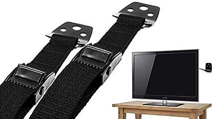 liltourist Muebles y Televisor Correa de Seguridad TV, protección antivuelco extra estable universal - metal fijación con fuertes de nailon correas - Flat TV Seguridad Infantil: Amazon.es: Bebé