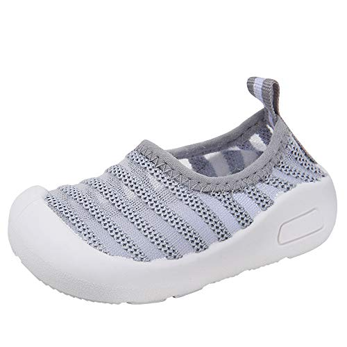 (Baby Boys Girls Comfortable Breathable Mesh Outdoor Sneakers Summer Sandals Toddler Shoes (19(Inside length-14cm)(21-25months), Grey-1))