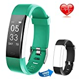 Fitness tracker with heart rate monitor, waterproof activity tracker for IOS and Android 14 Modes