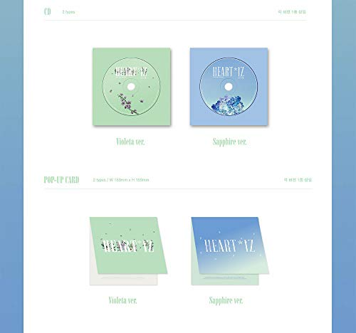 Off The Record IZONE IZONE - HEARTIZ [Sapphire ver.] (2nd Mini Album) 1CD+106p Photobook+Clear Sleeve+Mini Photobook+2Photocards+Pop-up Card+Folded Poster+Double Side Extra Photocards Set by Off The Record (Image #4)