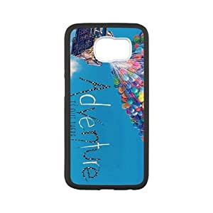 Durable Rubber Cases Samsung Galaxy S6 Black Cell phone Case Zgtfl Adventure Is Out There Protection Cover