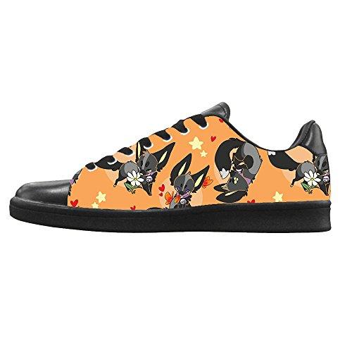 Dalliy Custom Fox Mens Canvas Shoes Schuhe Lace-Up High-Top Sneakers Segeltuchschuhe Leinwand-Schuh-Turnschuhe B