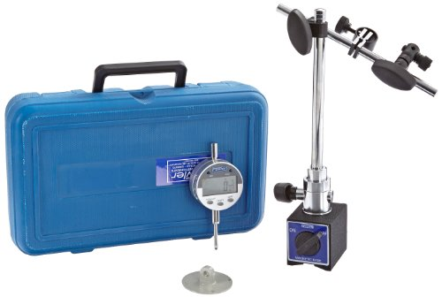 Dial Digital Indicator (Fowler 54-585-250 Articulating Magnetic Base and Indi-X Blue Fraction Electronic Indicator Set, 0.0005