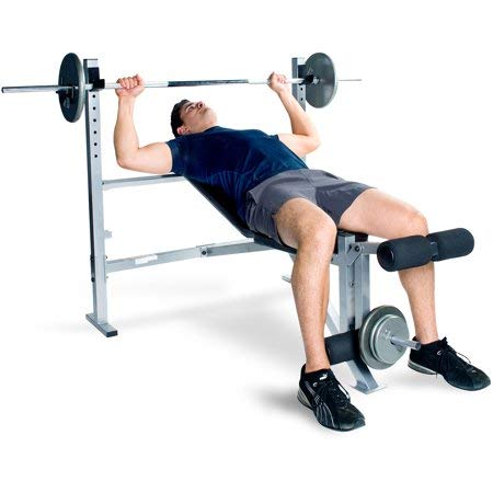 CAP Barbell' 500 lb Weight Capacity Strength Deluxe Weight Bench in Black, Powder-Coated Finish