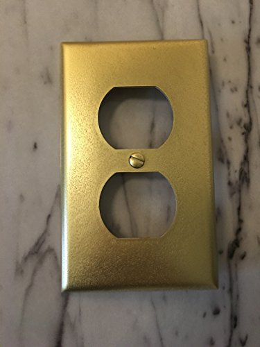 Price comparison product image Gold Plated 2 Plug Outlet Cover