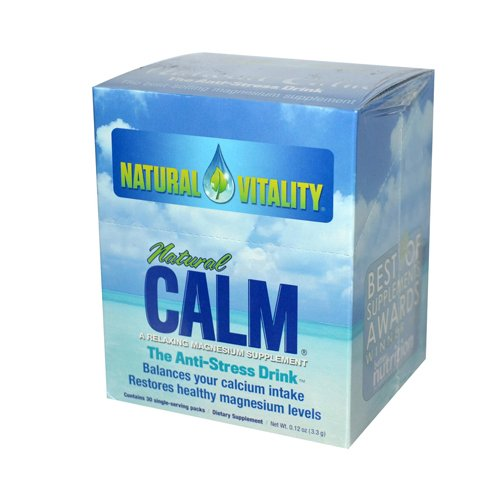 Natural Vitality Natural Magnesium Calm - 30 Packets - Gluten Free -