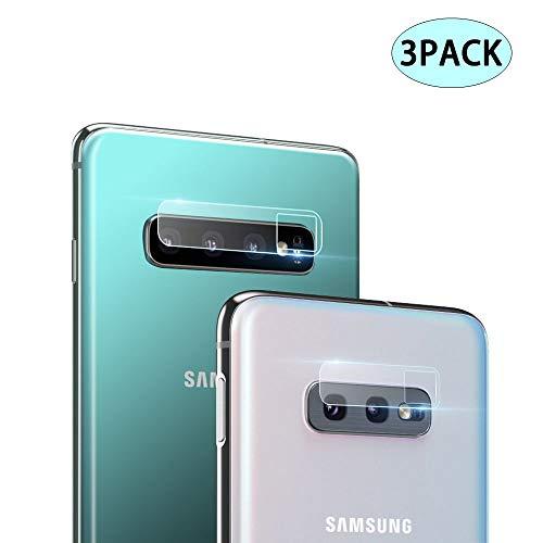 S10 Camera - Samsung Galaxy S10 / S10 Plus Camera Lens Protector, 【3PACK】 Camera Lens Tempered Glass Protector Film Camera Lens Protection Compatible for Samsung Galaxy S10 Plus/S10/S10+ (HD, Bubble-Free)