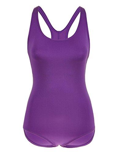 67a8d06507626 SYROKAN Women s One Piece X-Back Flattering Plus Size Sport Swimsuit Navy.  46 inch