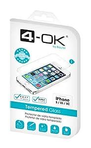 Blautel Tempered Glass - Protector De Pantalla 4-Ok Para Iphone 5 / 5S / 5C