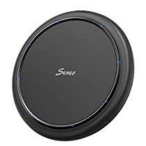 Seneo Fast Wireless Charger, 7.5W Fast Charger for iPhone XS/ XR/ XS Max, iPhoneX/8/8 Plus, 10W Fast Wireless Charging pad for GalaxyNote 9/S9/S9+/Note 8/S8/S8+/S7/S7 Edge/Note 5/S6 Edge+, 5W for Google Pixel 3/Pixel 3 XL, All Qi-Enabled Devices (No AC Adapter)