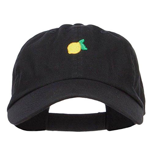 E4hats Mini Lemon Embroidered Low Cap - Black OSFM for $<!--$18.99-->