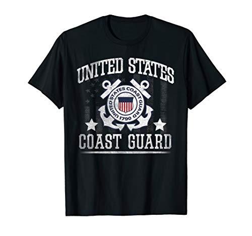 (Vintage US Coast Guard Shirt - USCG T Shirt )