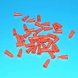 300pcs Syringe Cap Luer Lock Syringe Tip Caps Dispensing Needle Tip CapSyringe Screw Type Tip Cap (Orange)