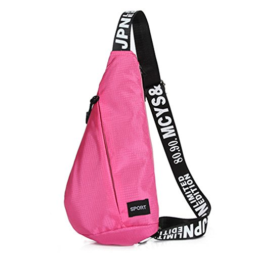 - Breadaye Chest Bag Gym Bags For Training Sports Fitness Yoga High Walking Running Waterproof Bicycle Sport Bags pink