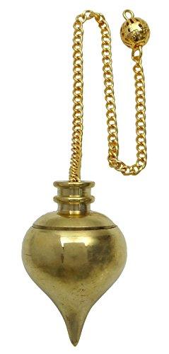 Harmonize Brass Gold Tone Tear Drop Pendulum Dowsing Spiritual Gift Energy Generator Reiki Healing Crystal
