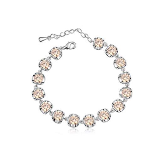 Mondaynoon Swarovski Elements Crystal Bracelets For Women (Clarins) (Champagne)