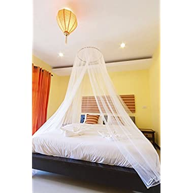 PearBlue Large Mosquito Net Bed Canopy | Insect and Pest Repellent | Indoor/Outdoor Conical Double Bed Canopy Curtains
