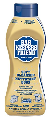 Bar Keepers Friend Soft Cleanser Liquid (25.4 oz - English/French) - Multipurpose Cleaner & Rust Stain Remover for Stainless Steel, Porcelain, Ceramic Tile, Copper, Brass, and More by Bar Keepers Friend
