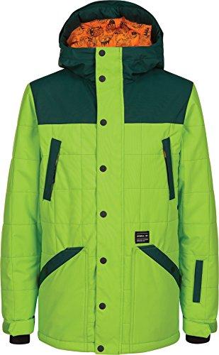 O'Neill Boys Element Jacket, Limeade, Size 14 (Oneill Snowboard Jackets)