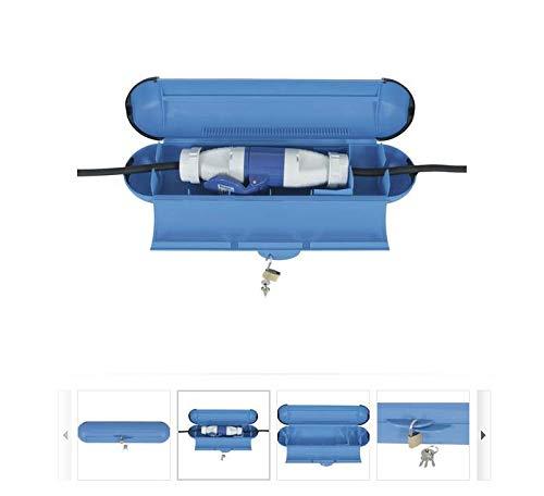 Prise CEE IP44 max Avec cadenas bleu Lot de 3 bo/îtes de protection /étanches pour c/âble dextension 3 x 2,5 mm