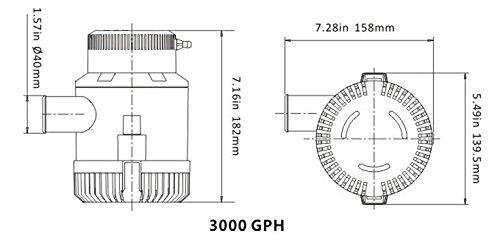 sailflo 3000 GPH eléctrico Marine barco bomba de agua sumergible bomba de sentina 12 V: Amazon.es: Deportes y aire libre