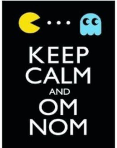 Keep Calm And Om Nom grande en caja lienzo (mantener la calma y Om ...