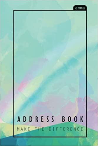 address book pastel over the rainbow address book with pocket size
