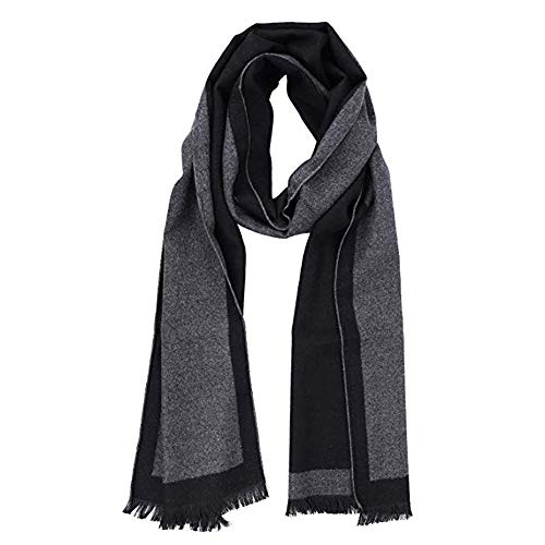(Men's Long Scarf Winter Neck Warmer Shawl Tassel Knitted Unisex Cable Cover)