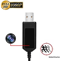 Aipinvip 1080P HD Hidden Camera USB Charger Cable Nanny Spy Camera Adapter with 16GB Internal Memory (Fits for Android)