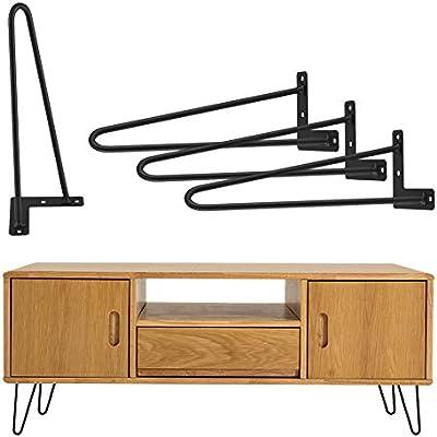 4 horquillas para el pelo, patas de mesa, estructura de metal ...