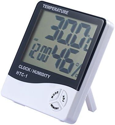 JZK numérique HTC 1 LCD support mural intérieur thermomètre hygromètre compteur d'humidité de température avec Mémoire pour la maison ou le Bureau