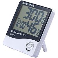 JZK numérique HTC-1 LCD support mural intérieur thermomètre hygromètre compteur d'humidité de température avec Mémoire pour la maison ou le Bureau