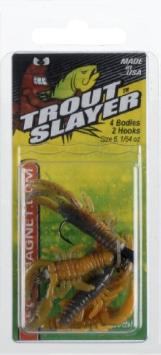 Leland Lures 87660 Trout Slayer, 6-Pack, Crawdad