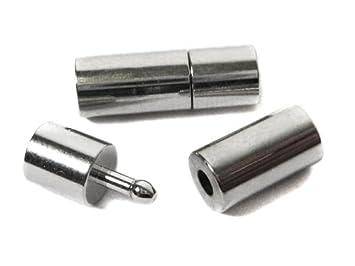 Steckverschluss f/ür B/änder 3 mm in platinfarben 1 St/ück