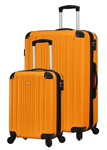 TravelCross Milano Luggage Expandable Lightweight Spinner Set - Orange, 2 piece (20''/ 28'') ()