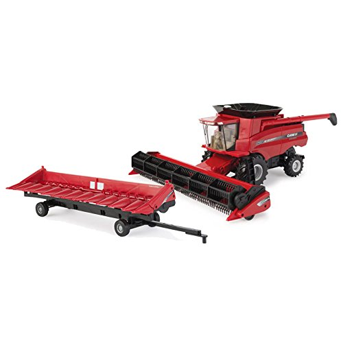 Kit 1/32 Case IH 8230 Combine with Both Headers and Header Trailer