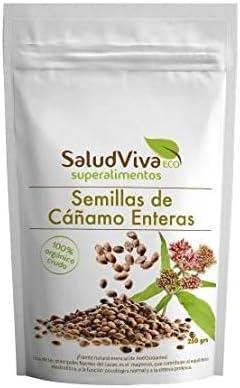 Semillas de cáñamo enteras ECO 250 g, Salud Viva