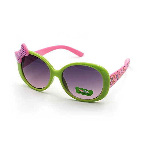 Lovely Butterfly Kids UV400 Sunglasses by Xinmade, Unicorn Color for Boys and Girls Age 3-10 (Green - Lovely Sunglasses