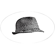 CafePress - Houndstooth_Middle Sticker - Oval Bumper Sticker, Euro Oval Car Decal