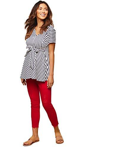 (Jessica Simpson Secret Fit Belly Twill Skinny Leg Maternity Crop Pants)