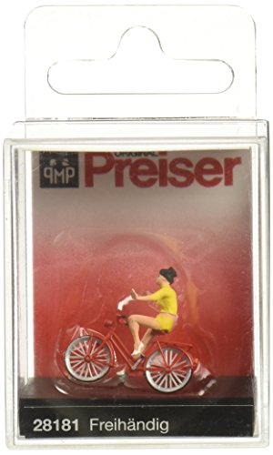 - Preiser 28181 Look No Hands! with Bicycle HO Scale Figure
