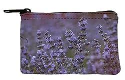 Pouch case purple flowers Coin Purse