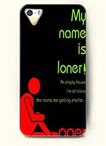 My name is loner!-iPhone 4/4s/4g back plastic case